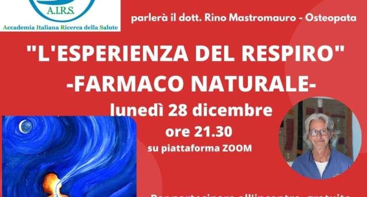 """SEMINARIO SU """"L'ESPERIENZA DEL RESPIRO – FARMACO NATURALE"""""""